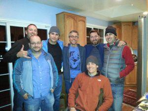 Jason with MA classmates John Morrow, Ryan Hall, Dave Noble, Coulter Boeschen, Tom king, Eric Facas in 2012